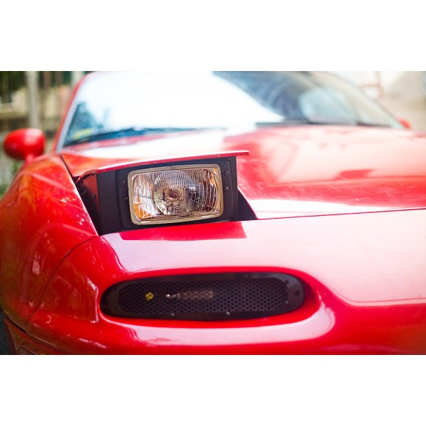 Low Profile Headlight Conversion Kit H4 Rectangle Jass